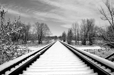 Photograph - Snow Tracks by James Steele