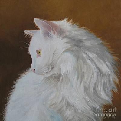 Print featuring the painting Snowball by Jindra Noewi