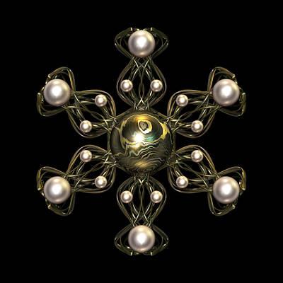 Meditative Digital Art - Snowflake Jewel by Hakon Soreide