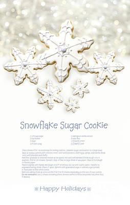 Snowflake Sugar Cookies With Receipe  Art Print by Sandra Cunningham