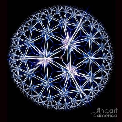 Digital Art - Snowflakes by Danuta Bennett