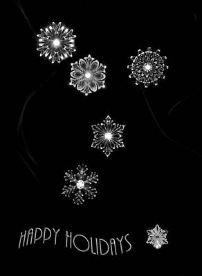 Photograph - Snowflakes Happy Holidays by Beverly Cash