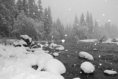 National Photograph - Snowing By Riverside by Chenglung Chen