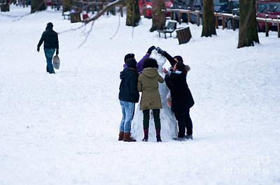 Landscape Photograph - Snowman by Andrew  Michael