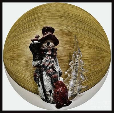Christmas Cards Digital Art - Snowmwn Around The World by Marsha Heiken