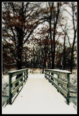 Photograph - Snowy Bridge by Lora Mercado