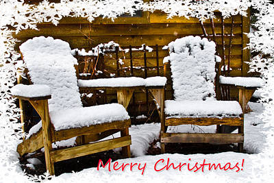 Photograph - Snowy Coffee Holiday Card by Debra and Dave Vanderlaan