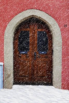 Snowy Door Art Print