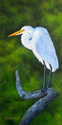Painting - Snowy Egret by Francine Henderson