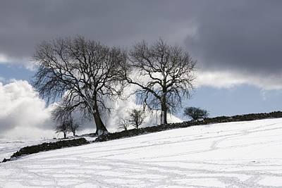 Snowy Field, Weardale, County Durham Print by John Short