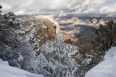 Photograph - Snowy Morning At The Grand Canyon by Sandra Bronstein