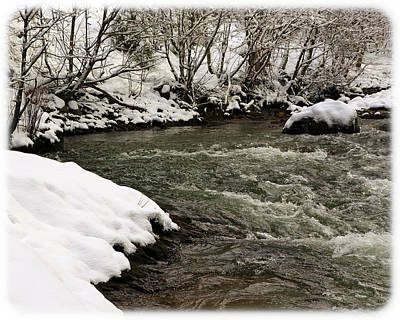 Photograph - Snowy Mountain River by Steve McKinzie