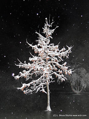 Mixed Media - Snowy Night 1 by Bruce Ritchie