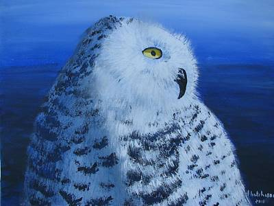 Painting - Snowy Owl by Don Hutchison