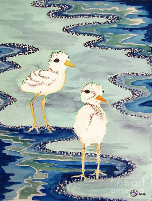 Snowy Plover Chicks Art Print by Alexandra  Sanders