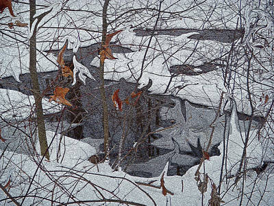 Creative Photograph - Snowy Pond by Aimee L Maher Photography and Art Visit ALMGallerydotcom