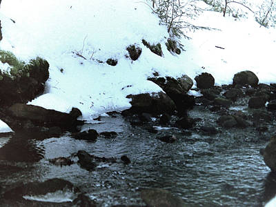 Photograph - Snowy River Bed by Sarah Reed