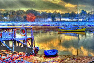 Snowy River Sunset Art Print by Jane James
