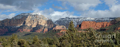 Photograph - Snowy Sedona Afternoon by Sandra Bronstein
