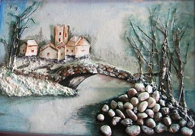 Painting - Snowy Village by Rejeena Niaz