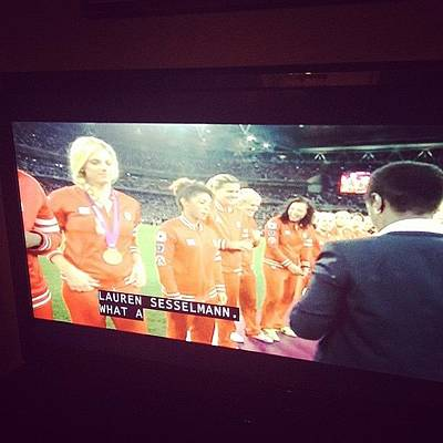 Bronze Wall Art - Photograph - So Proud #canada #soccer #olympics by Fashionsign Magazine