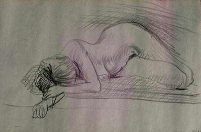 Drawing - So Tired by Sid Solomon