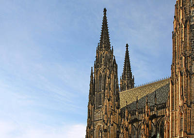 Saints Photograph - Soaring Spires Saint Vitus' Cathedral Prague by Christine Till