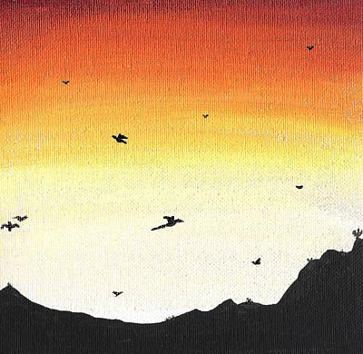Soaring Sunset 2 Art Print by Jera Sky