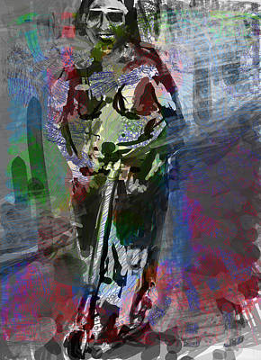 Old Man Digital Art - Sober Scooter by James Thomas