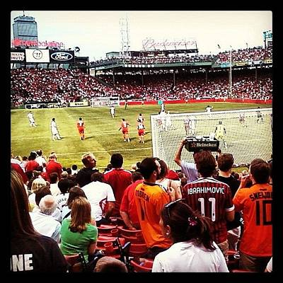 Celebrities Wall Art - Photograph - Soccer At Fenway by Rebecca Shinners