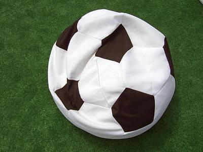 Soccer Ball Seat Cushion Art Print by Matthias Hauser