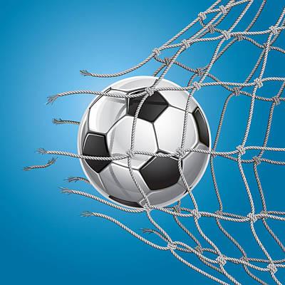 Soccer Goal. Art Print