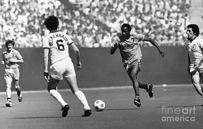 Soccer Match, C1977 Art Print
