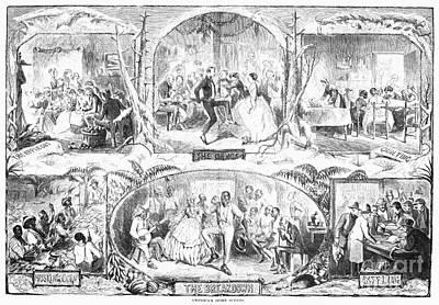 Social Activities, 1861 Art Print by Granger