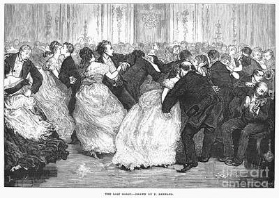 Galop Photograph - Social Dancing, 1873 by Granger