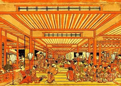 1772 Photograph - Social Life In Shin Yoshiwara 1772 by Padre Art