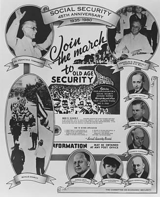 Social Security 45th Anniversary Art Print by Everett