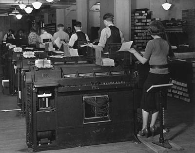 Occupational Portraits Photograph - Social Security Administration Clerks by Everett