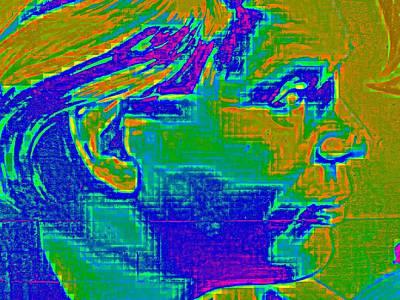 Headshot Digital Art - Socialist by Randall Weidner