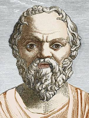 Socrates, Ancient Greek Philosopher Art Print by Sheila Terry