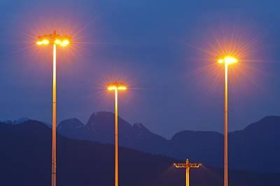 Gas Lamp Photograph - Sodium-vapour Street Lights by David Nunuk