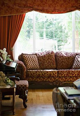 Sofa In Living Room Art Print by Andersen Ross