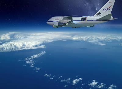 Sofia Airborne Observatory In Flight Art Print by Detlev Van Ravenswaay