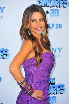 Dangly Earrings Photograph - Sofia Vergara Wearing Lorraine Schwartz by Everett