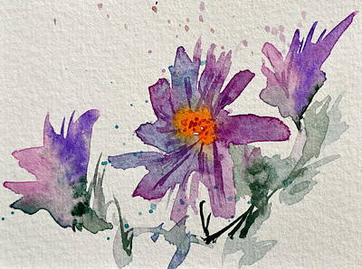 Wild Asters Painting - Soft Asters by Beverley Harper Tinsley