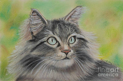 Soft Kitty Art Print by Julie Brugh Riffey
