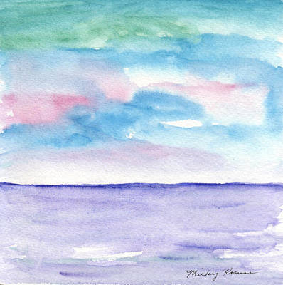 Abstract Animalia - Soft Seascape by Mickey Krause