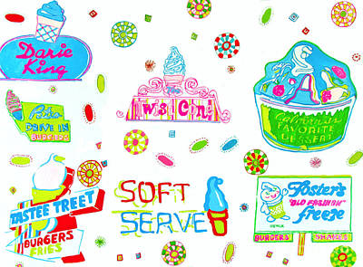 Painting - Soft Serve by Beth Saffer