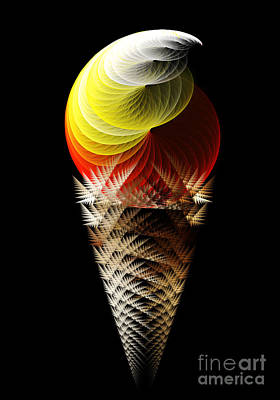 Digital Art - Soft Serve Ice Cream Citrus Swirl by Andee Design