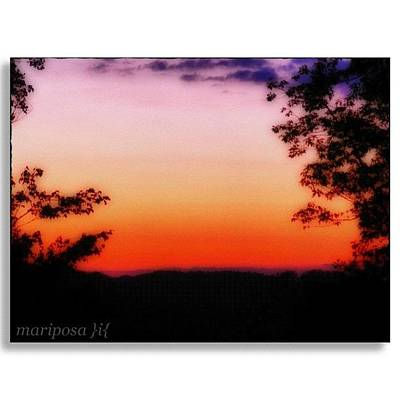 Edit Photograph - Soft Sunset In The Smokies by Mari Posa